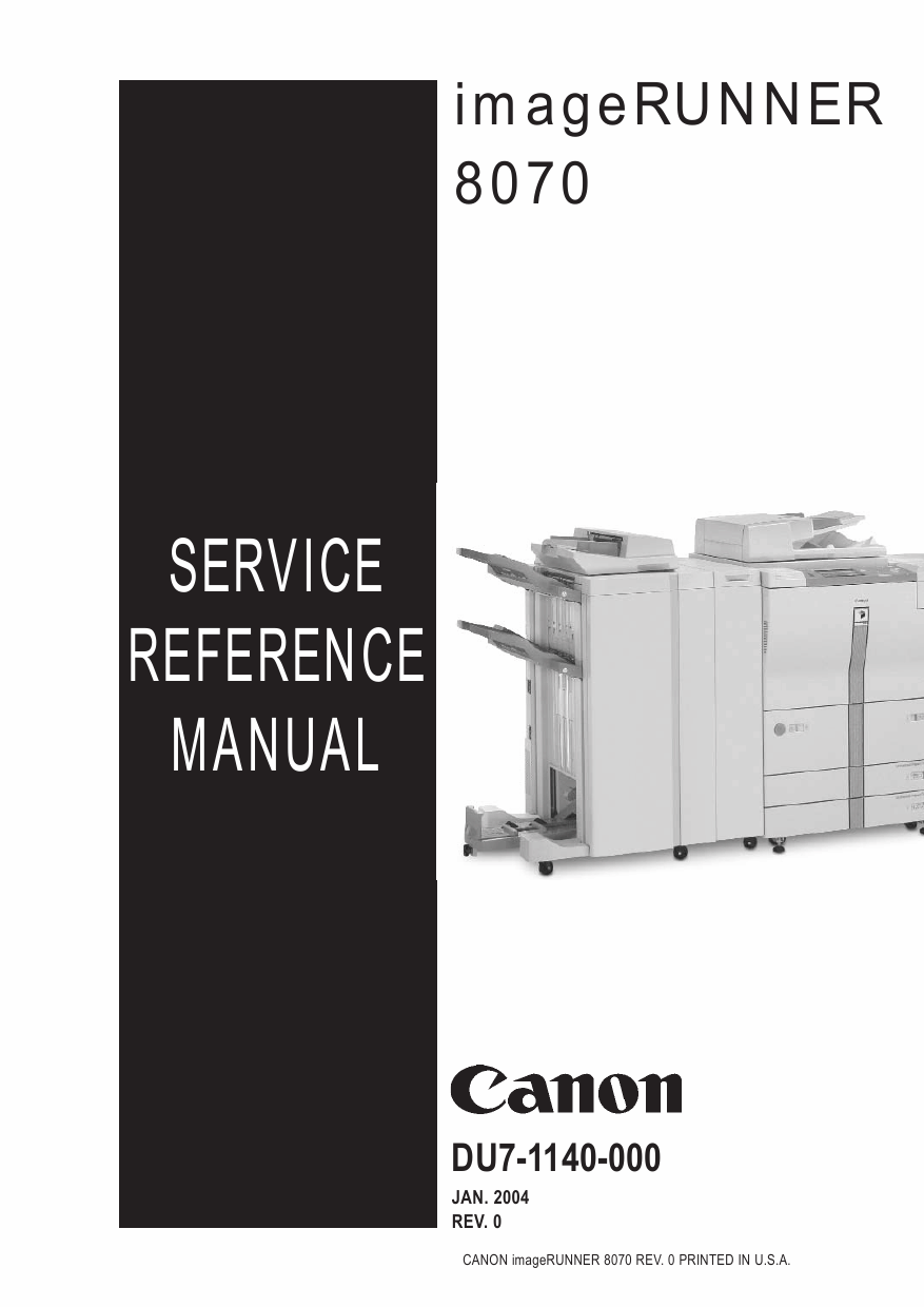Canon imageRUNNER iR-8070 Parts and Service Manual-1